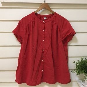 Old Navy Short Sleeve Button Down Top